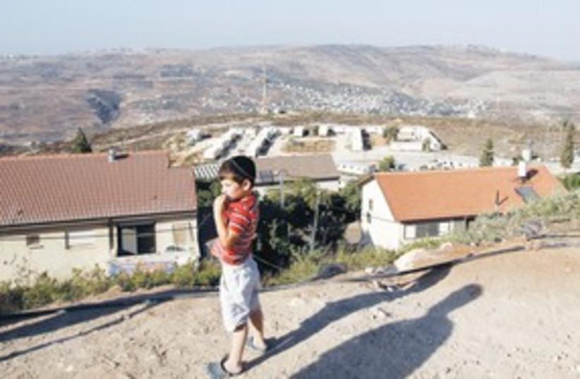 A boy in Yitzhar 311 (photo credit: (Reuters))