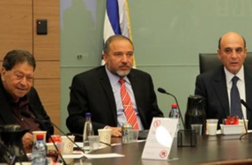 FM Lieberman at FADC meeting_311 (photo credit: Marc Israel Sellem)
