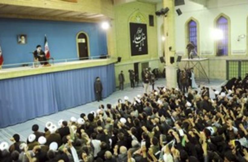 Ayotollah Khamenei speaks to supporters in Tehran_311 (photo credit: Reuters)