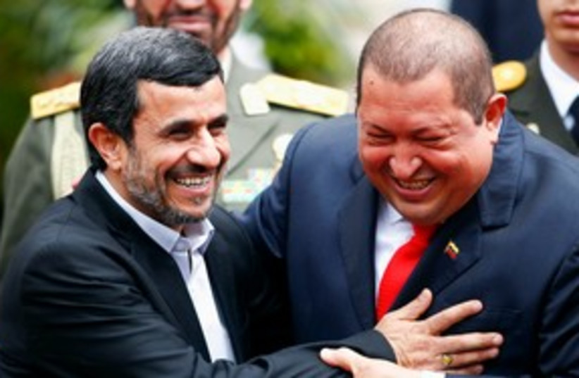 Ahmadinejad and Chavez 311 (photo credit: REUTERS)