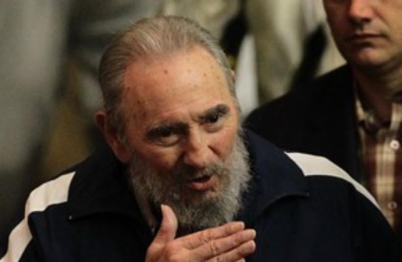 Former Cuban leader Fidel Castro  311 (R) (photo credit: REUTERS/Desmond Boylan)