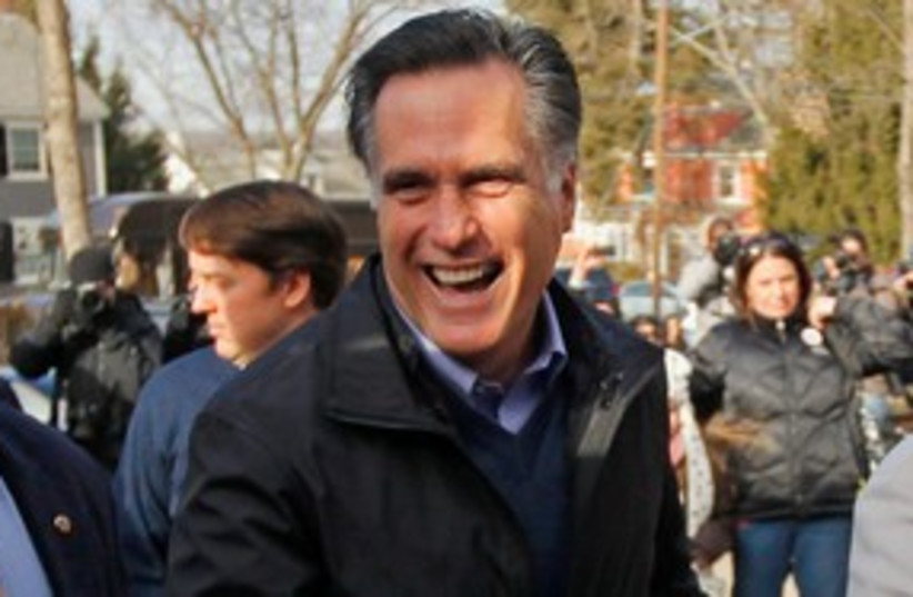 Former Massachusetts governor Mitt Romney 311 (R) (photo credit: REUTERS/Brian Snyder)