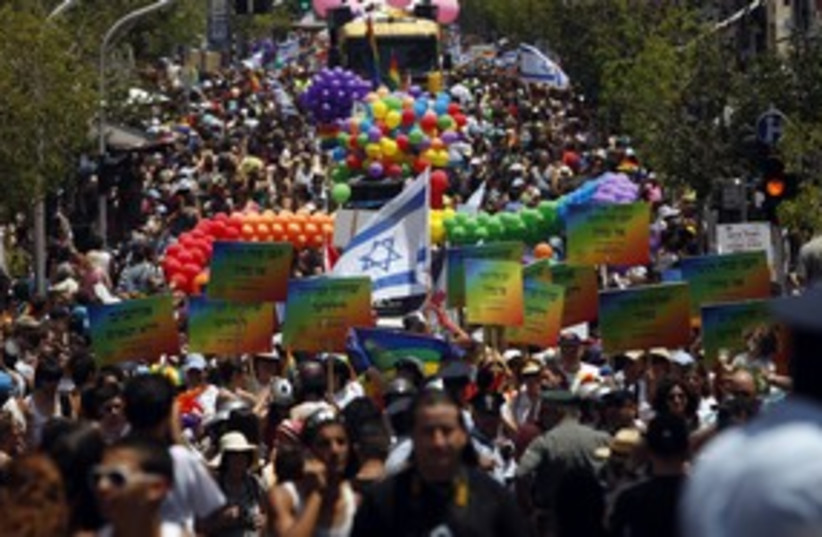 Gay pride in Israel 311 (photo credit: REUTERS/Baz Ratner)