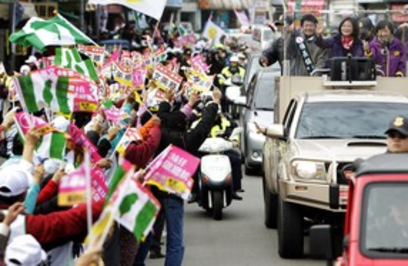Taiwanese presidential candidate Tsai 311 (photo credit: REUTERS/Jason Lee)