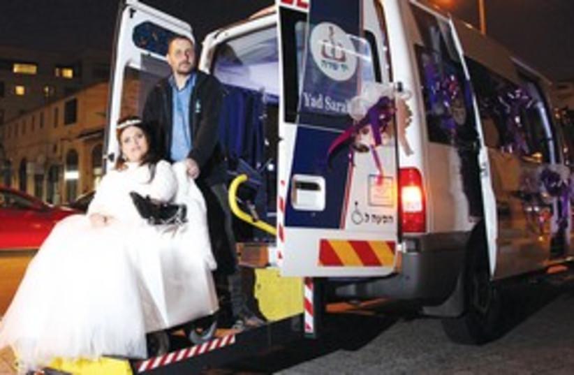 ODELIA LAVIE woman in wedding dress in ambulance 311 (photo credit: Yad Sarah)