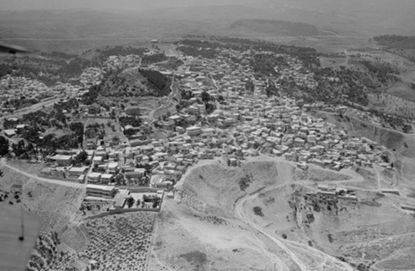 Safed aerial view (1937).