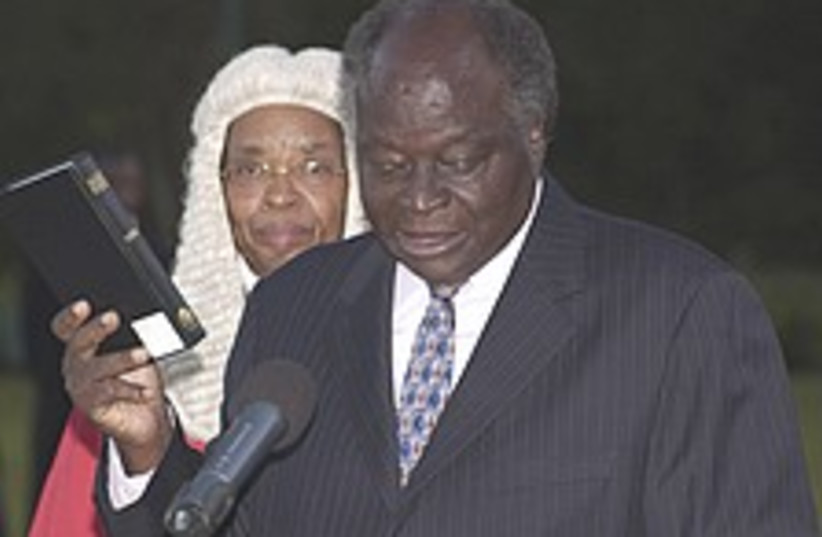 Kibaki 224.88 (photo credit: AP)