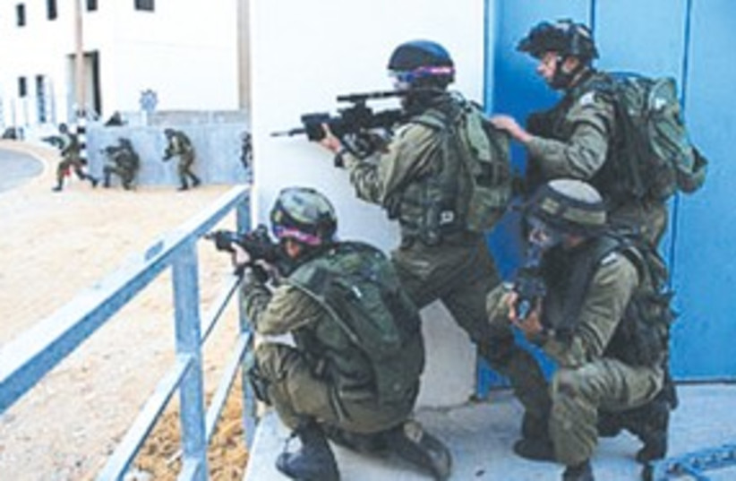 GIVATI BRIGADE soldiers train with international forces 311 (photo credit: IDF Spokesman's Office)
