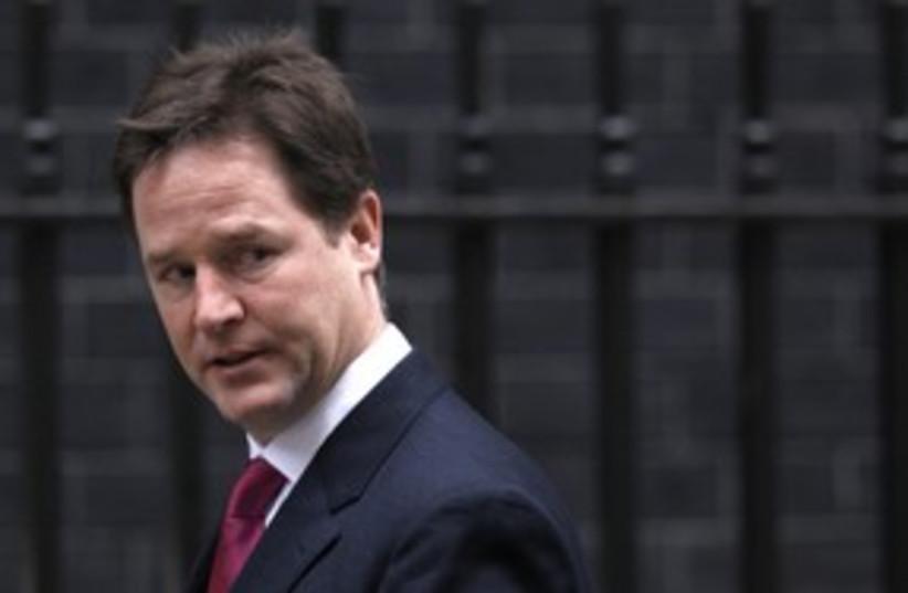 UK Deputy PM Nick Clegg_311 (photo credit: Reuters)