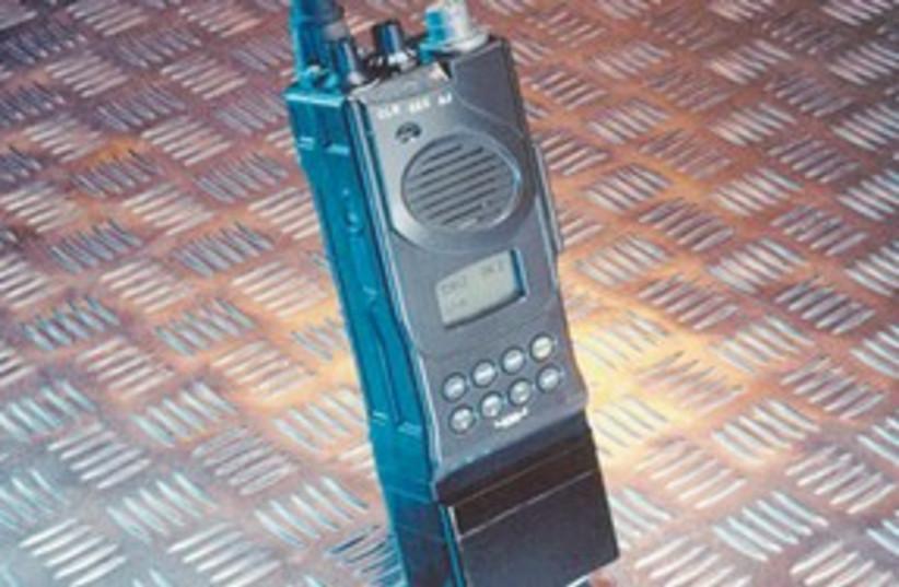 IDF handeheld radio 311 (photo credit: Elbit)