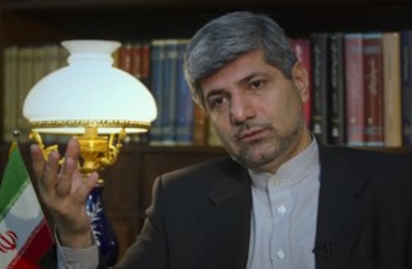 Iranian Foreign Ministry Spokesman Ramin Mehmanparast 311 (R (photo credit: Caren Firouz / Reuters)