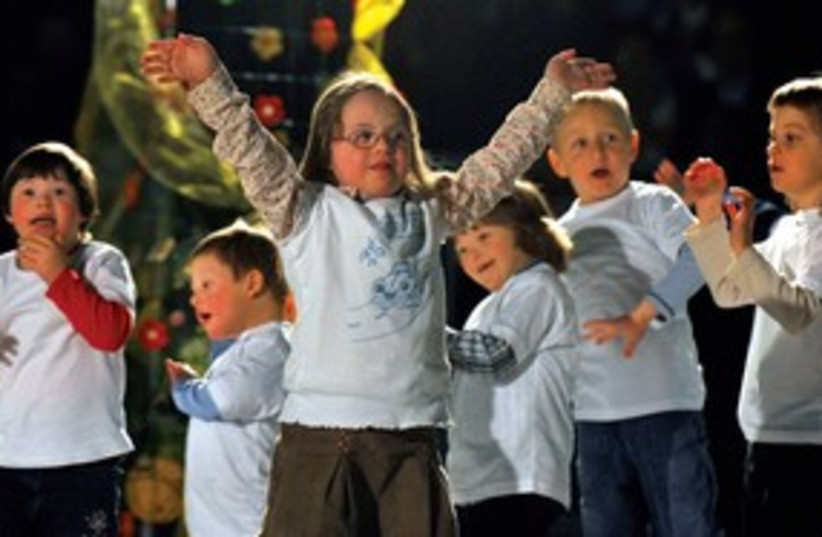 Down syndrome children 311 (photo credit: Reuters)