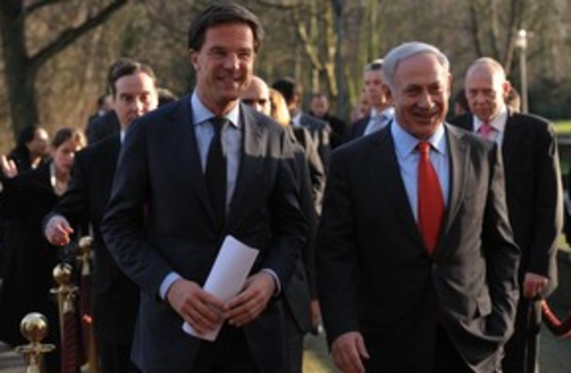 Netanyahu, Dutch Prime Minister Mark Rutte 311 (photo credit: Amos Ben-Gershon/GPO)
