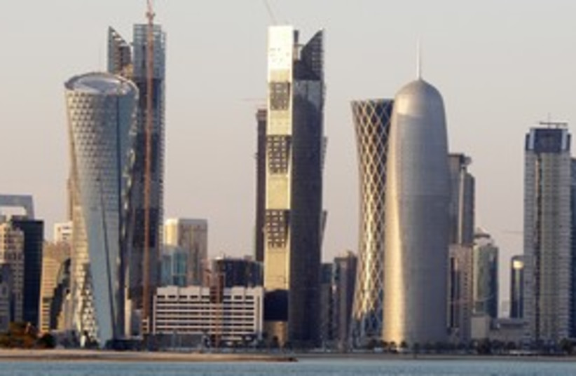 Qatar Doha skyline buildings 311 R (photo credit: REUTERS)