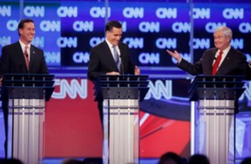 Republican presidential debate 311 (R) (photo credit: REUTERS/Jason Reed)