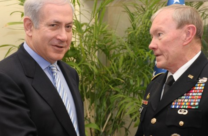 Us army chief Dempsey meets Netanyahu (photo credit: GPO)