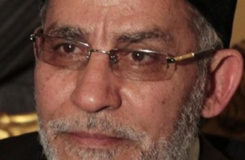Mohamed Badie 311 (photo credit: REUTERS)