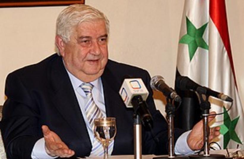 syrian fm moallem 298.88 (photo credit: )