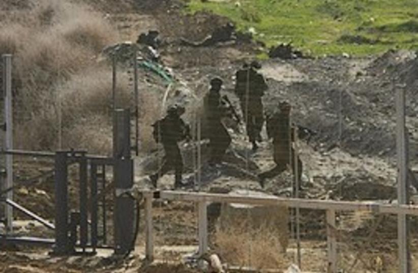IDF gaza fence 298 (photo credit: AP)