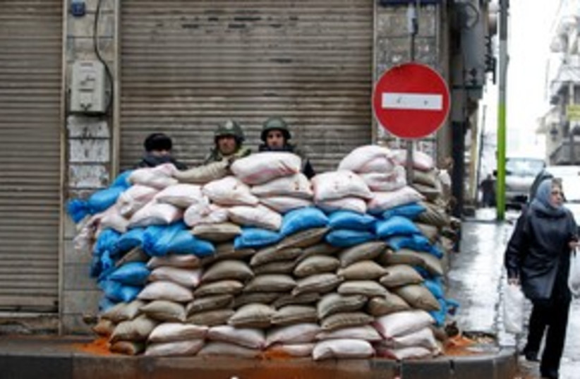 Syrian soldiers Homs 311 (photo credit: REUTERS)