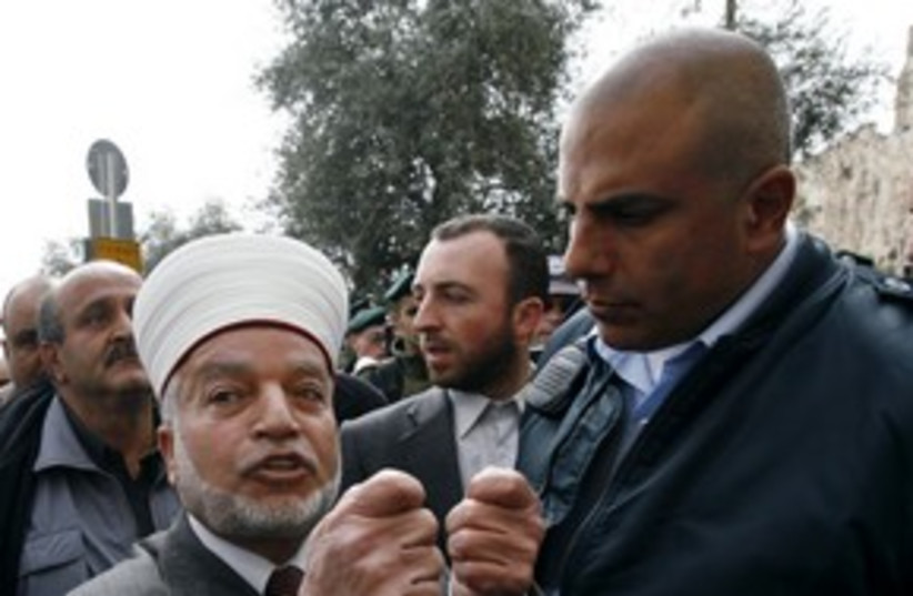 Jerusalem Mufti Muhammad Hussein 311 (photo credit: REUTERS/Ammar Awad)