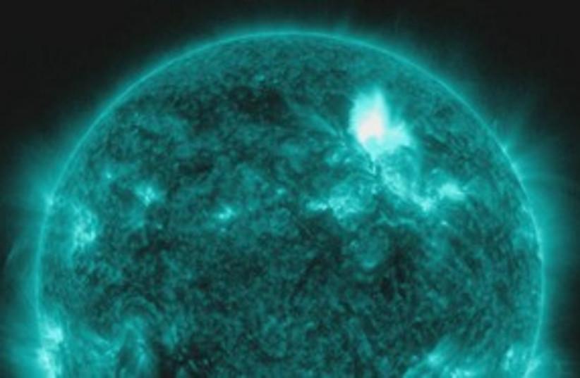 M 8.7 class solar flare 311 (photo credit: NASA)