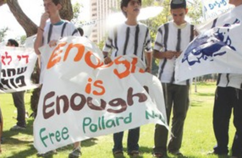 Israelis protest for Jonathan Pollard in Jerusalem 311 (photo credit: Marc Israel Sellem)