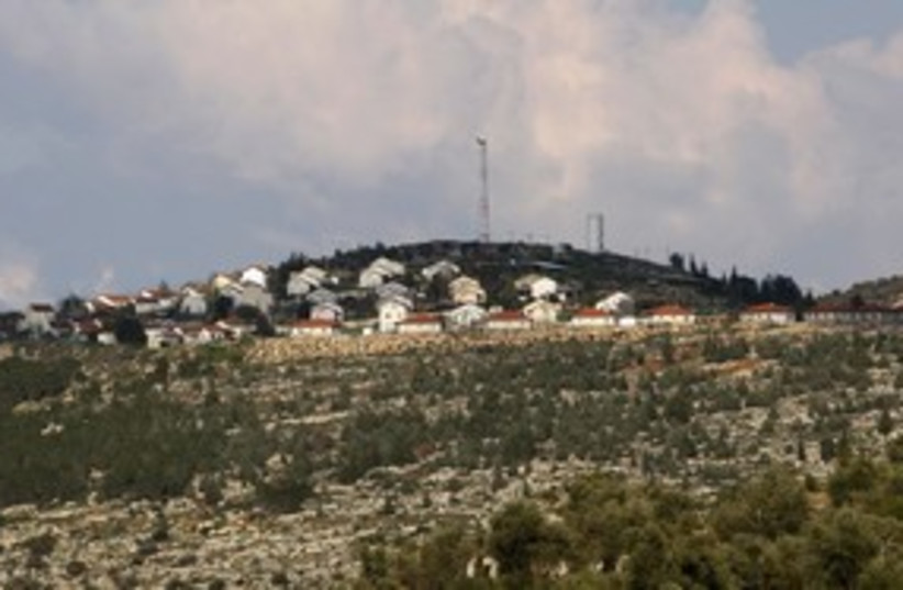 Itamar settlement hilltop 311 R (photo credit: Abed Omar Qusini / Reuters)