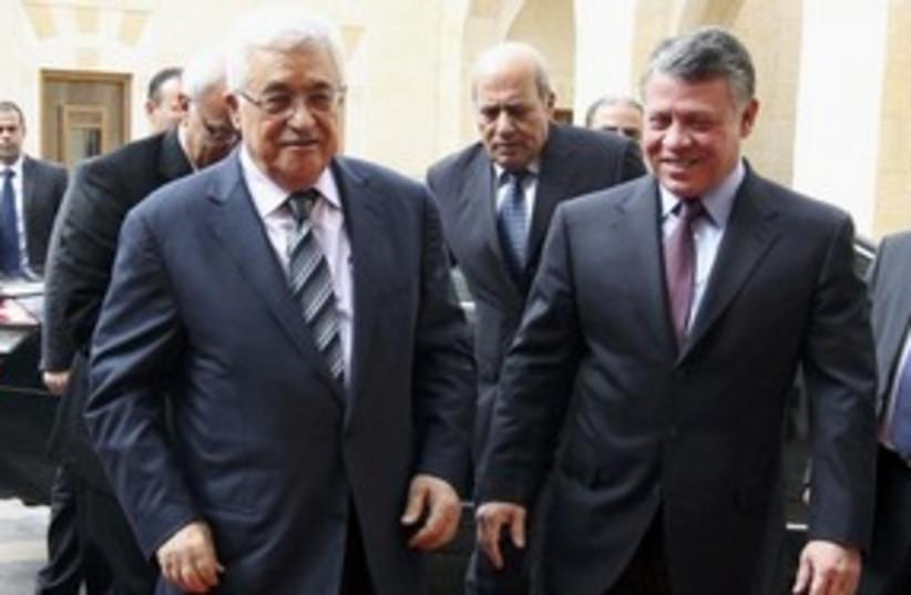 PA president Abbas, Jordan King Abdullah II_311 (photo credit: Reuters)