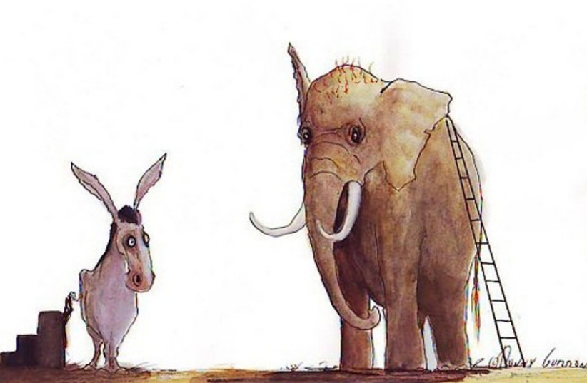 gordon donkey elephant (photo credit: )