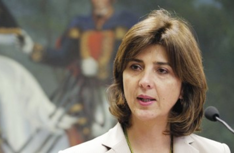 Colombian Foreign Minister Maria Angela Holguin R 390 (photo credit: REUTERS)