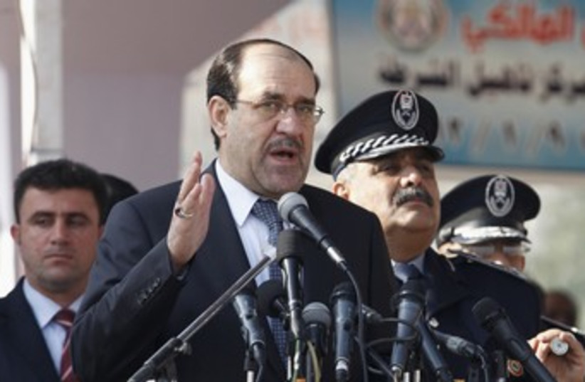 Iraq's Prime Minister Nuri al-Maliki  370 (photo credit: REUTERS)