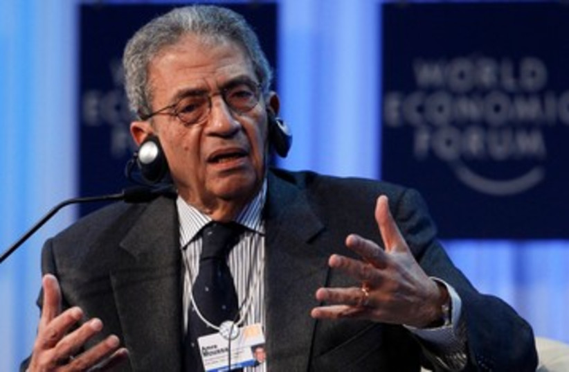 Amr Moussa at World Economic Forum 390 (photo credit: REUTERS)