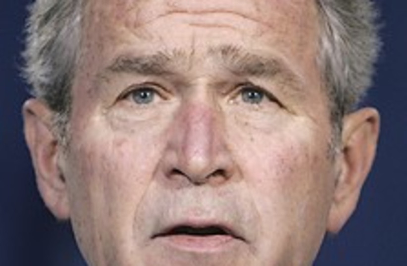 Bush big face 224.88 (photo credit: AP)