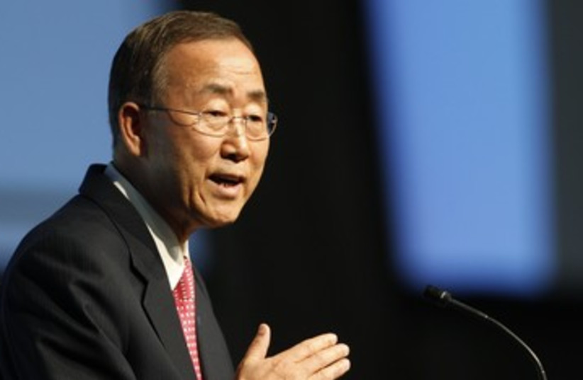 UN Secretary-General Ban Ki-moon 390 (R) (photo credit: Michael Buholzer / Reuters)