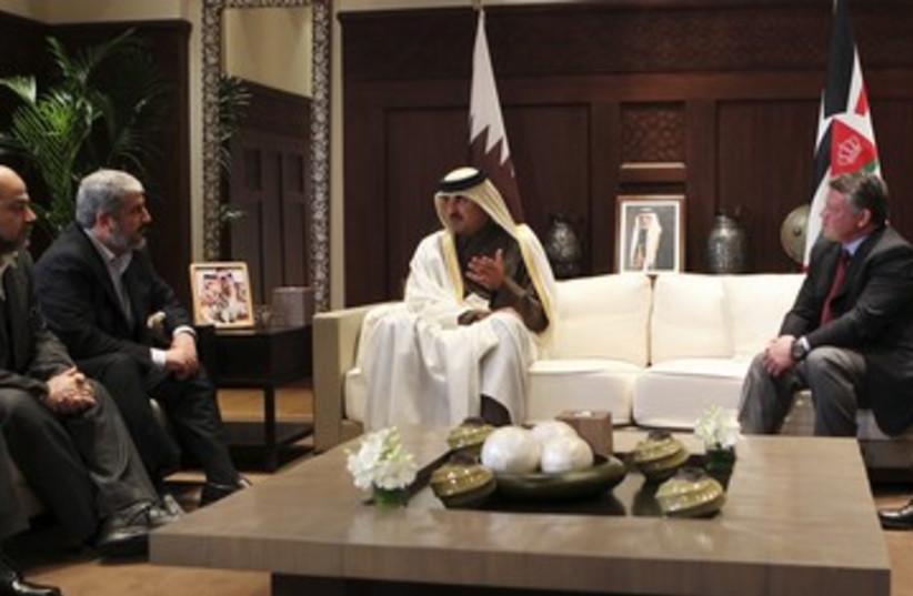 Mashaal, Qatar crown prince, King Abdullah_311 (photo credit: Reuters)