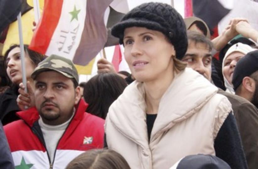 Asma Assad 390 R (photo credit: REUTERS)