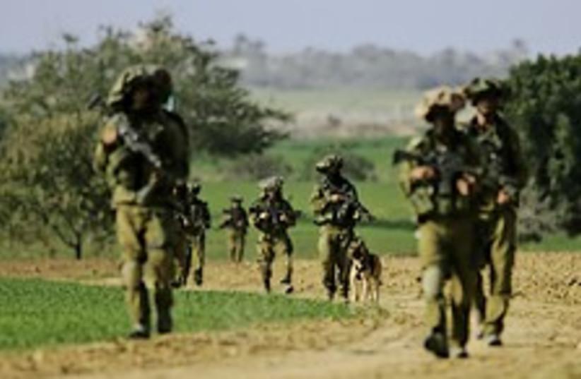 idf infantry gaza 224.88 (photo credit: AP)