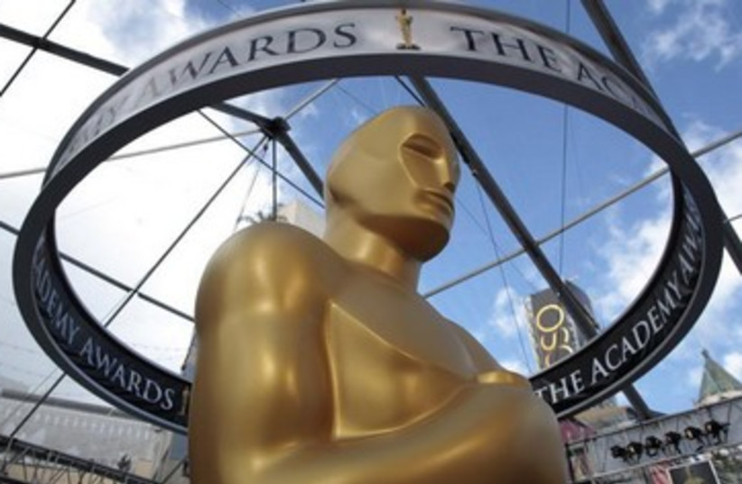 Oscar statue   390 (photo credit: REUTERS/Lucy Nicholson)