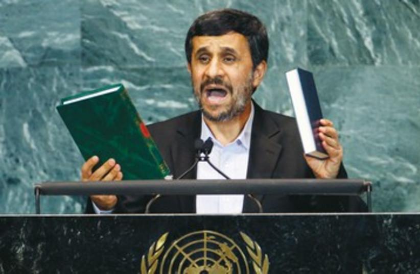 Ahmadinejad at the UN 390 (photo credit: REUTERS)