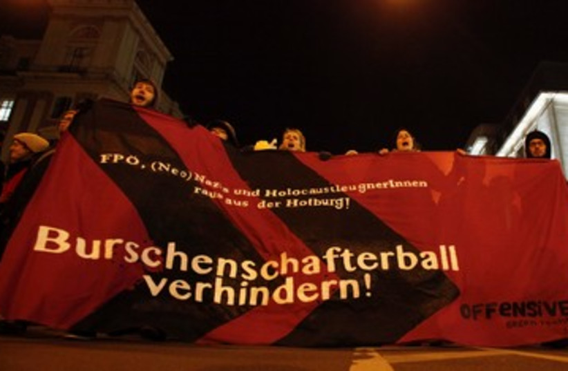 Anti right wing protest in Austria (photo credit: REUTERS)