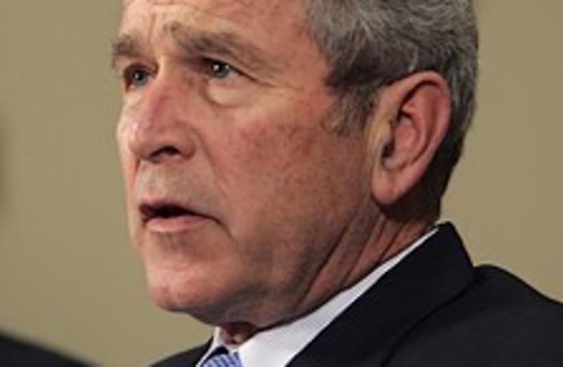 Bush mouth open 224.88 (photo credit: AP)