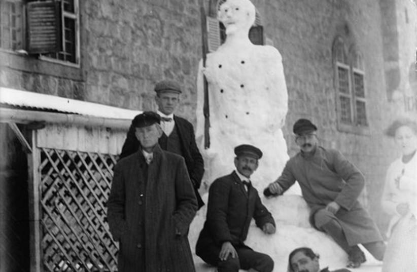 A snowman in Jerusalem