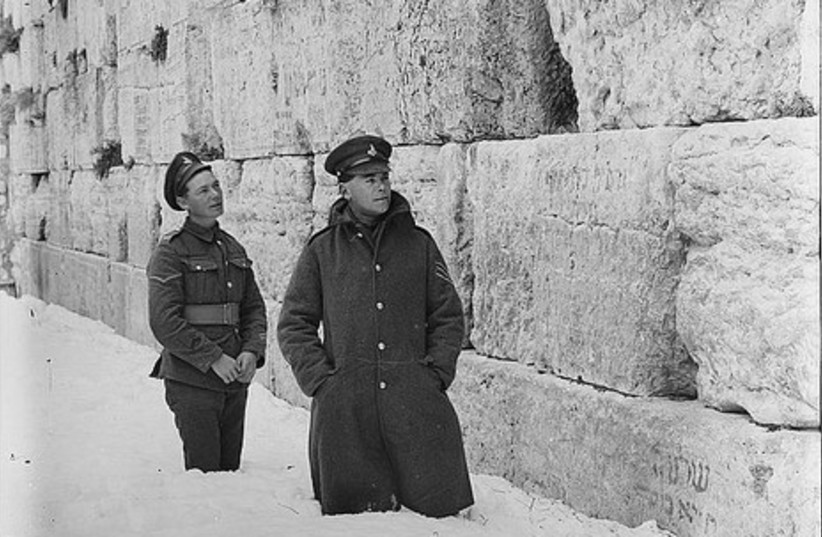 British soldiers at the Western Wall