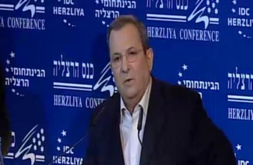 Barak at Herzliya Conference 390 (photo credit: Screenshot)