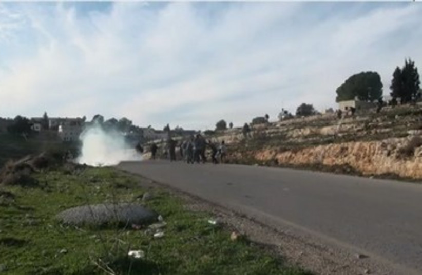 Nabi Saleh demonstration 390 (photo credit: YouTube screenshot)