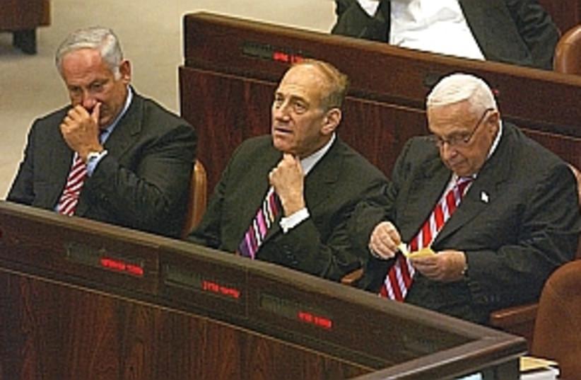 sharon olmert bibi 298AJ (photo credit: Ariel Jerozolmiski)