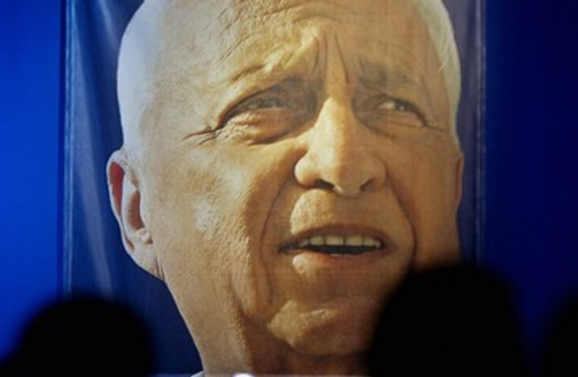 Former prime minister Ariel Sharon poster 390 (R) (photo credit: Gil Cohen Magen / Reuters)