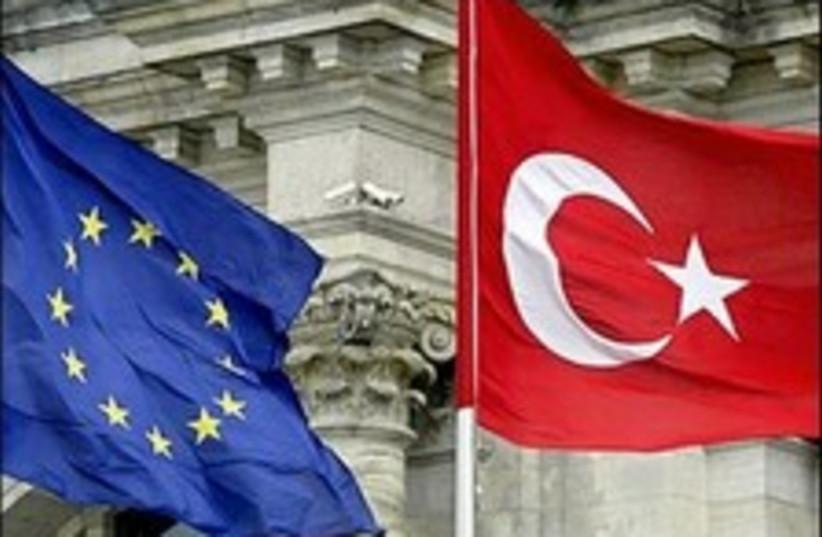 Turkey Eu flags (photo credit: )