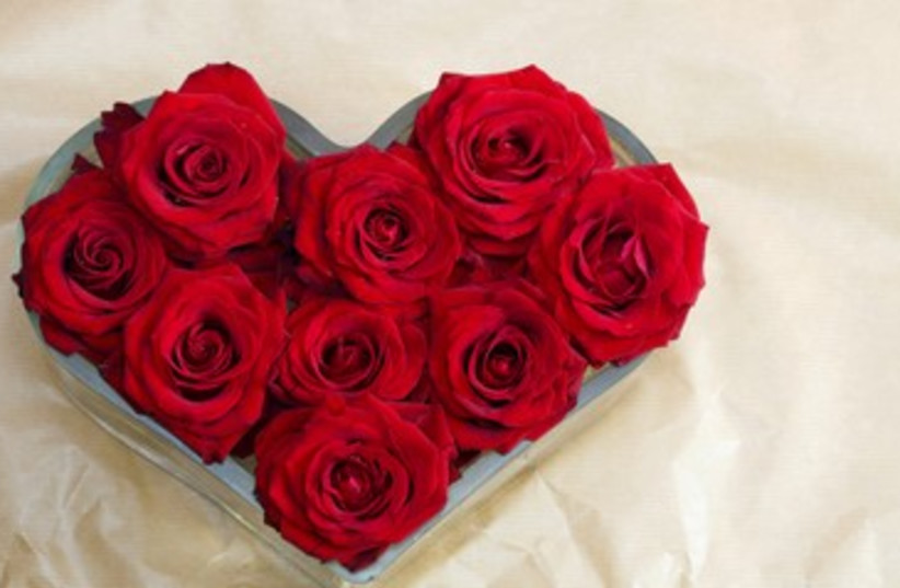 Heart made from flowers (photo credit: Thinkstock/Imagebank)